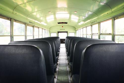 clean bus interior