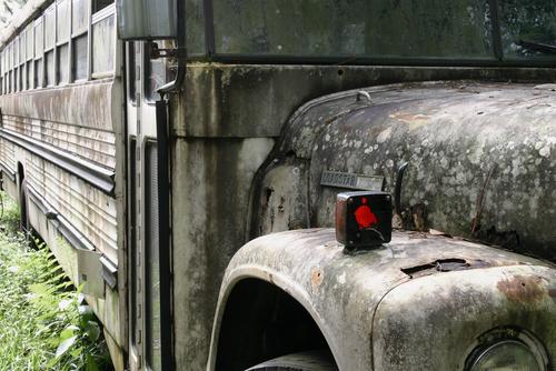 old school bus photo