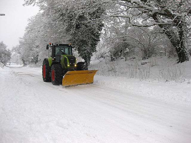 construction snow plow